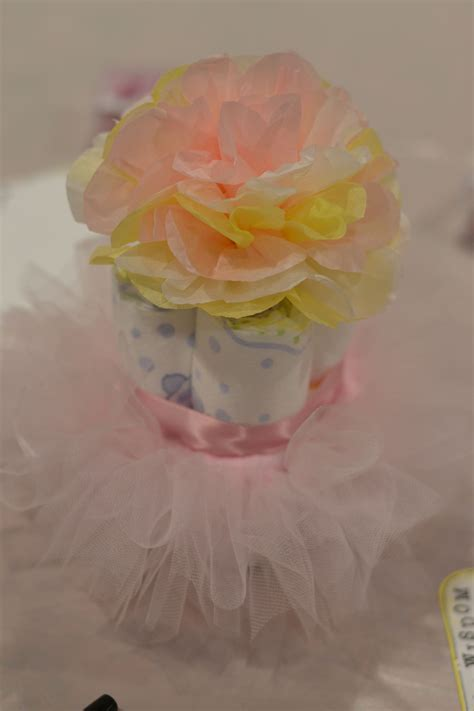 centerpieces  baby shower mini tutu diaper cake