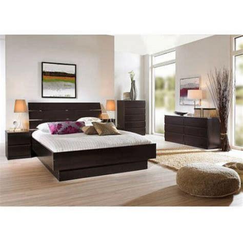 pcs queen bedroom furniture set headboard bed platform
