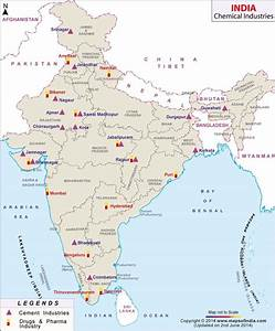 Map of Chemical Industries in India