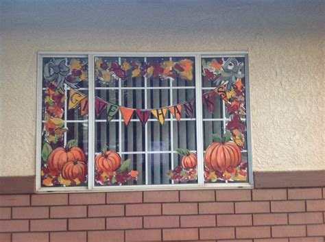 Fenster Bemalen Herbst by Fall Windows Window Painting Ideas Window