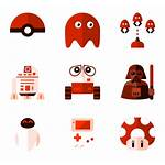 Geek Zone Packs Icon Icons Character Vector
