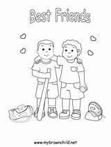 Coloring Pages Friend Friends Friendship Printable Sheets Jonathan David Bible Blackhawks Colouring Bff Boys Preschool Playing Google Popular Cartoon Gabby sketch template