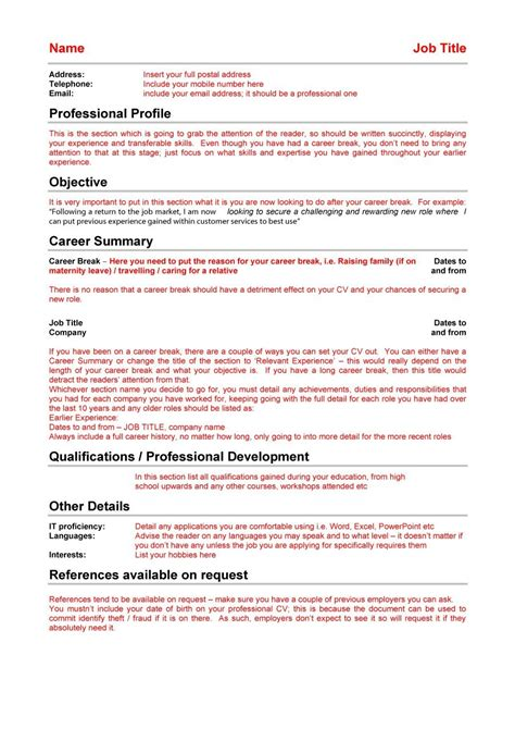 curriculum vitae layout template 48 great curriculum vitae templates examples template lab