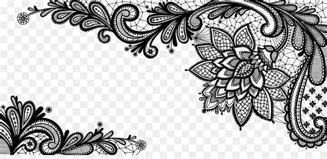 lace royalty  clip art black french floral border