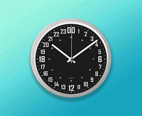 hours wall clock  cm  silver black face