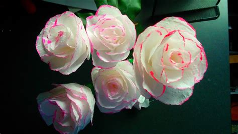 toilet paper rose flower  wrapping method