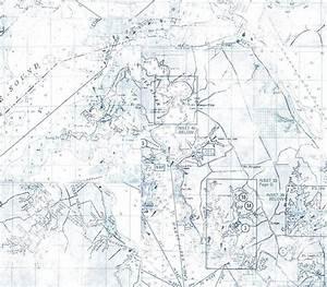 Interior Place - Blue Nautical Map Wallpaper, $24.00 ...