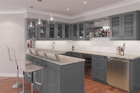 graphite grey shaker ready  assemble kitchen cabinets