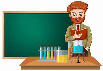 Science Teacher Classroom Vector Clipart Illustration Dreamstime