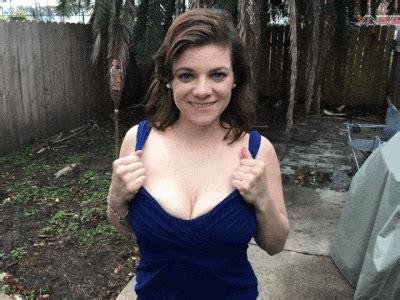Flashing Big Tits Outside Porn Pic