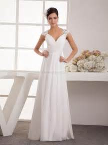 simple a line wedding dress pamalla appliqued simple a line chiffon wedding dress