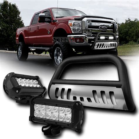 bull bar with lights 11 15 ford f250 f350 f450 f550 superduty front bull bar