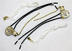 Quantity 2 Universal Pull Chain Switch Lamp Ceiling Light
