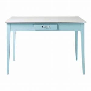Table A Manger 120 Cm : table de salle manger en bois bleu l 120 cm kitchen maisons du monde ~ Dode.kayakingforconservation.com Idées de Décoration