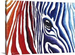 colorful zebra contemporary pop art zebra painting wall