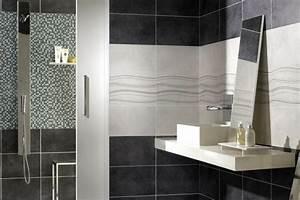 carrelage salle de bain gris et blanc With carrelage gris salle de bain
