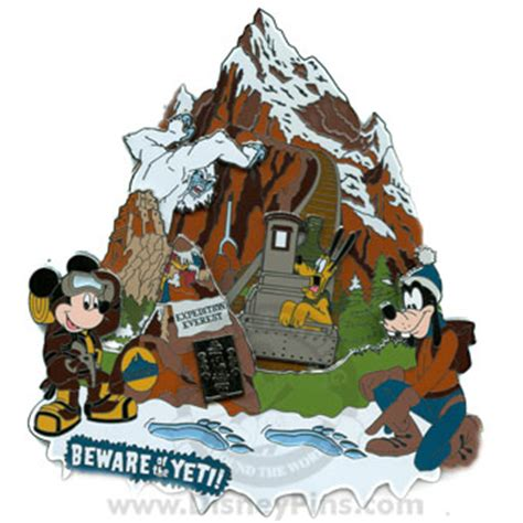 disney jumbo pin  ticket collection expedition everest