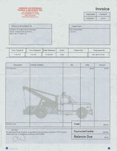 Towing service invoice pdf free invoice for Towing service invoice pdf