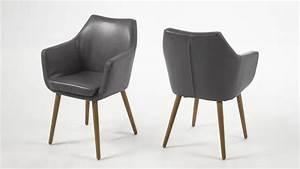 Stuhl Grau Eiche : stuhl nora armlehnstuhl in vintage sessel lederlook grau eiche ~ Markanthonyermac.com Haus und Dekorationen
