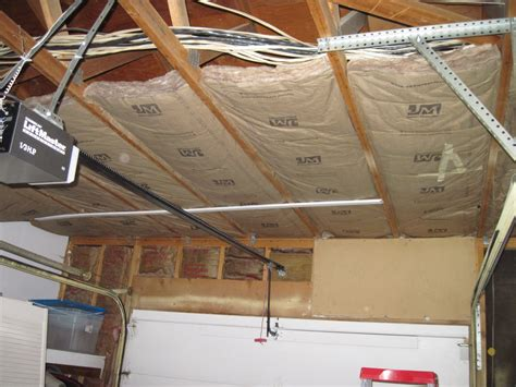 insulating a garage garage rescue insulating the ceiling space with a
