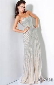 Asymmetrical Dress Designs Jovani Long Asymmetrical Fully Beaded Evening Dress 4343