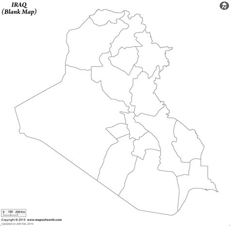 Blank Map Of Iraq Iraq Outline Map