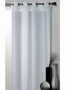 Kit Rayure Vitrage : voilage fantaisie tiss e rayures blanc blanc achat ~ Premium-room.com Idées de Décoration
