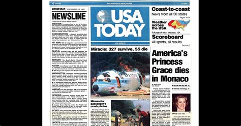 News Today by Usa Today Newspaper Turns 35