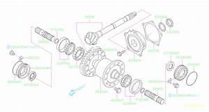 Subaru Impreza Shim-drive Pinion  Differential  Transmission  Driveline
