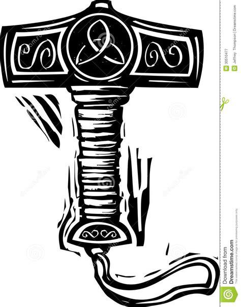 thors hammer mjolnir stock vector illustration of norway 30510477