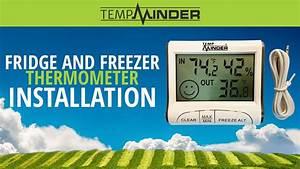 Tempminder Fridge And Freezer Thermometer Installation