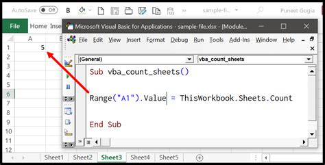 count sheets  vba  excel