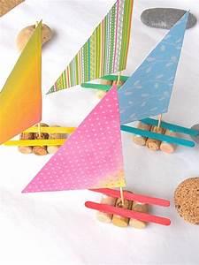Basteln Sommer Kinder : recycling basteln kinder weinkorken sommer segelboote basteln pinterest recycling basteln ~ Markanthonyermac.com Haus und Dekorationen