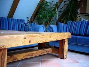 Tisch Aus Holz : stabiler seltener tisch aus holz selber bauen ein unikat als geschenkidee youtube ~ Watch28wear.com Haus und Dekorationen