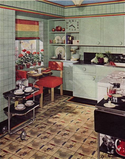 retro kitchen flooring 1939 armstrong kitchen design inspiration from the 1930s 1936