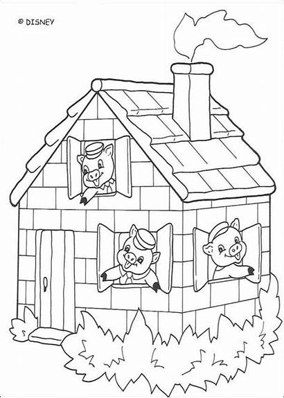 Pigs Coloring Three Pages Disney Colouring Recess