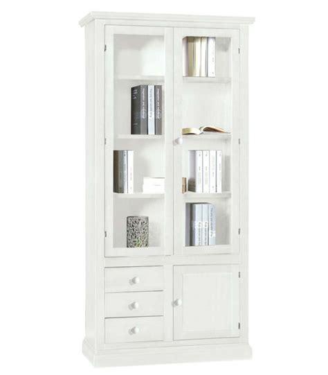 libreria chiusa libreria 2 ante 3 cassetti e anta chiusa in legno bianco