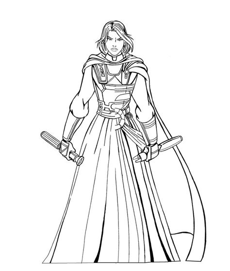 full size image requested lineart jedi
