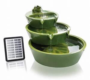 fontaine solaire fontaine solaire cascade aluminium With salle de bain design avec fontaines cascades décoratives solaires