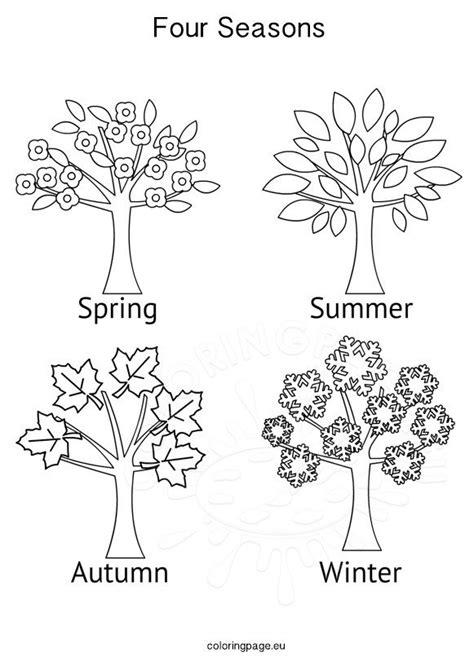 seasons activities  seasons tree coloring page
