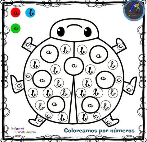 Fichas para colorear por letras números y símbolos (8