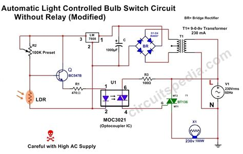 Light Activated Dark Switch Circuit Diagram