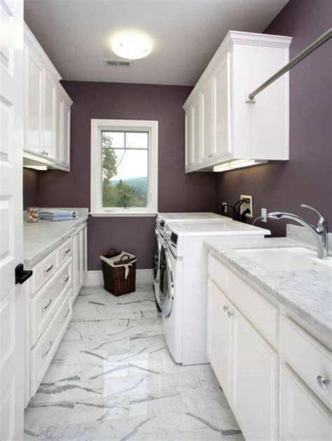 narrow laundry room  marble flooring laundry room