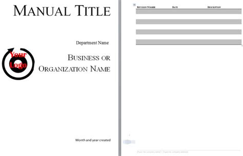 Operator Manual Template by Boring Work Made Easy Free Templates For Creating Manuals