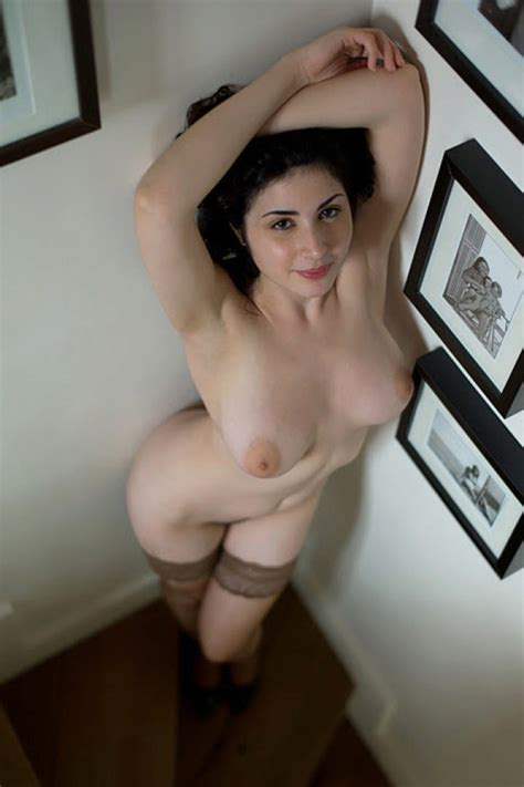 Superb Milf Is Topless And Horny In The Corner