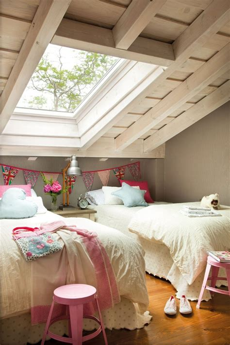 girl attic bedrooms homemydesign