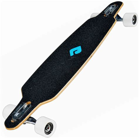 drop deck longboard advantages atom 36 quot drop through blue mbs mountainboards europe