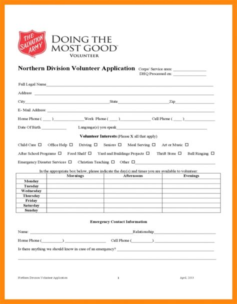 Letter Of Recommendation From The Salvation Army Post Office Application Resume Exles Templates