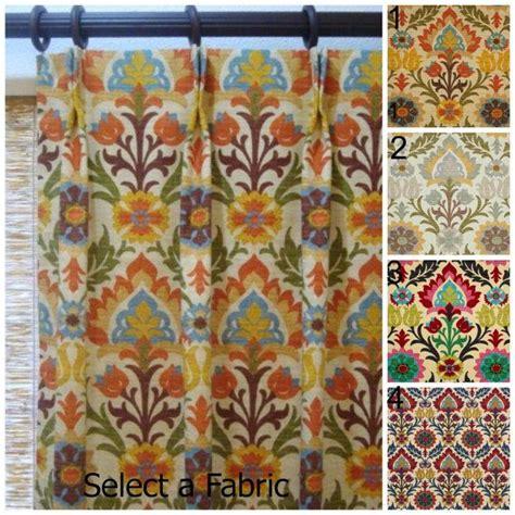 50x102 pinch pleat custom designer curtain panels waverly