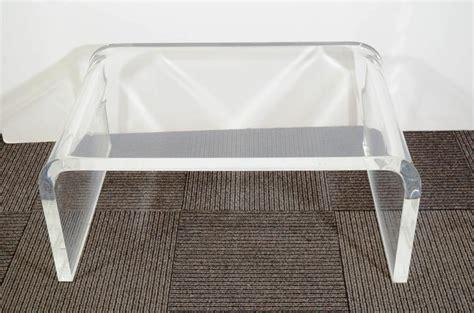 rectangular acrylic coffee table cb2 acrylic coffee